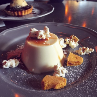 Salted Caramel and Popcorn Panna Cotta